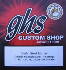 GHS Custom E9th-10 (Standard) Pedal Steel Guitar Strings- 2 Sets