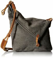 Tom Clovers Womens Mens Canvas Crossbody Messenger Shouder Handbag Tote Bag Grey