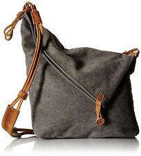 Tom Clovers Womens Mens Canvas Crossbody Messenger Shouder Handbag Tote Bag Grey
