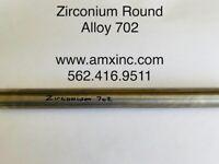 "ZIRCONIUM ROUND BAR ALLOY 702  .500"" DIA X 12"" LONG"