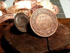 Golf Ball Marker Cnadian 1919 One Cent Piece Large Penny Ball Marker