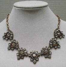 J Crew Crystal Crowned Triangle Necklace