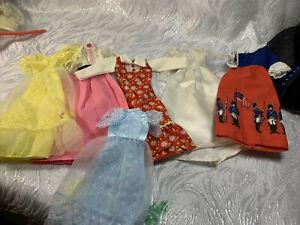 Vintage Barbie Doll Fashion Lot Maxi Dresses Bridal 1776 Assorted
