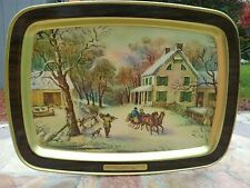 vintage Currier and ives decorative tin plate American homestead make an offer