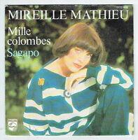 """Mireille MATHIEU Vinyle 45T 7"""" MILLE COLOMBES - SAGAPO -PHILIPS 6172650 F Réduit"""