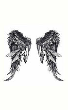 Framed Print - Gothic Angel Wings (Picture Poster Feathers Heaven Hell Art)
