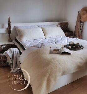 Wool Bedding Bundle, Bedding Set, Wool Duvet Mattress Topper Pillows King Size