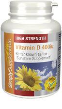 Vitamin D 400iu 360 Tablets | Strong Bones, Teeth, Muscles & Immune System
