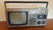 Vintage Sharp 10P-28H radio, TV, Cassette Player And Recorder
