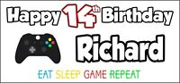 Xbox Controller 14th Birthday Banner x 2 Party Decorations Boys Girls ANY NAME