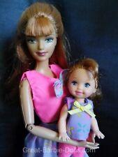 Sin usar-barbie Happy Family Midge con niño/Baby/chicas en el brazo