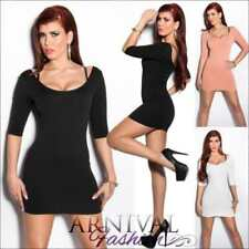 3/4 Sleeve Stretch Regular Size Dresses for Women