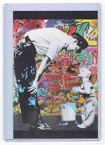 Mr Brainwash Cop Police Kid Paint Graffiti Campbell's Postcard Print Pop Art