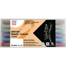Zig (Kuretake) WRITER Metallic-Colour Dual Tip Markers - Set of 6