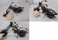 Modellino moto custom Harley realizzata a mano con componenti per auto regalo