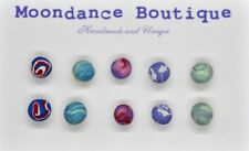 "Handmade Unique 1/4"" Fimo Polymer Ball Bead Pierced Post Earrings Set #5"