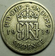 More details for george vi silver sixpences .50 silver, choose date-british