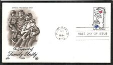 US SC # 2104 Family Unity FDC. Postal Commemorative Society Cachet .