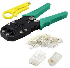 RJ45 Cat5e Cat6 Network LAN Ethernet Cable Crimping Crimper Tool +20 Connectors