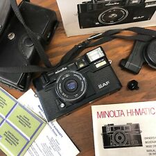 Minolta Hi-Matic AF Point &Shoot Camera made in &from JAPAN【+ Box Manuals Case!】