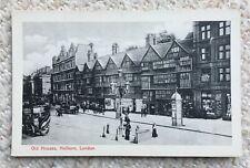 OLD HOUSES, HOLBORN, LONDON - VINTAGE POSTCARD