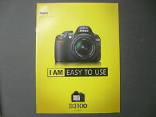 Nikon D 3100 folleto original