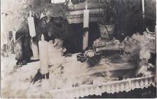1933 RP POSTCARD POST MORTEM MORBID DEAD BODY IN CASKET FUNERAL SCENE