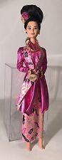 Vintage Barbie Dolls Of The World Malaysian Doll Figure Pink Dress 1991 Mattel