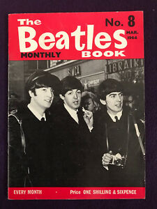 Original BEATLES BOOK MONTHLY Magazine No.8 March 1964 JOHN LENNON Ringo Starr