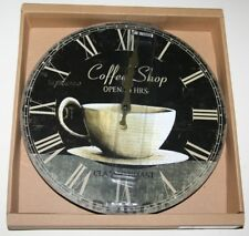Wall Clock -  COFFEE SHOP Design (30cm) *NEW^ Boxed