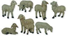 Krippenfiguren Tiere Schafe Schafherde mit Widder 4 teilig für Figuren 25-30 cm