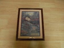 "Homco Home Interior Picture 20x25 ""Mill By Stream"" By Sherry Masters"