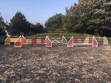 HORSE SHOW JUMPS POLES/FILLERS/PLANKS/GATE/ KEYHOLE TRACKS BRISTOL SHOW JUMPS