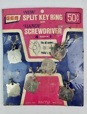 Vintage Gem Powerful Pete Key Ring Screwdriver 4 in 1 Flat Coin Store Display