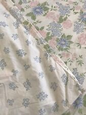 Pottery Barn Kids Floral Twin Size Duvet Reversible Pink Roses Blue Shabby Chic