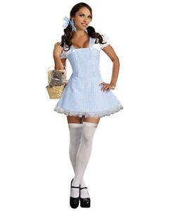 Dreamgirl Gingham Dress Dorothy Wizard of Oz Adult Womens Halloween Costume 8909