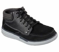 New Youth Skechers Relaxed Fit Maddox Shoe Style 93871L Black 182A dr