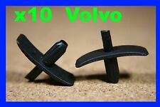 10 VOLVO car plastic fastener clips bonnet hood trunk boot insulation