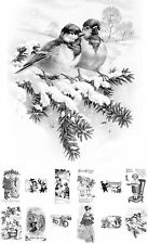 """Adult Grayscale Coloring Book (24 cards 4.5""""x6.5"""") Christmas Scenes FLONZ509"""