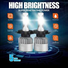 2x CREE H4 LED Headlight Kit 9003 1900W 285000LM Hi/Low Beam Bulb 6000K Light US