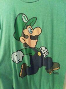 Nintendo Super Mario Bros Luigi Old Navy Green Shirt Boys XL