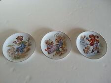 3 Vintage Royal Yarmouth Whimsical Boy Girl 4 Seasons Series Winter Spring Fall