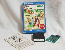 INTELLIVISION GOLF RARE WHITE LABEL GAME CARTRIDGE Late release Complete PAL1980