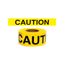 Presco B3102Y16 Yellow Caution 1000 FT Safety Barricade Tape