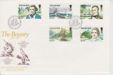 Unaddressed Isle of Man FDC First Day Cover 1989 Mutiny on the Bounty set