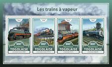 Togo 2016 MNH Steam Trains Locomotives Engines 4v M/S Railways Rail Stamps