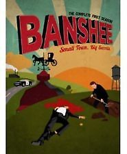 BANSHEE-THE COMPLETE FIRST SEASON (DVD, 4-DISC) R-4 LIKE NEW, FREE POST AUS-WIDE