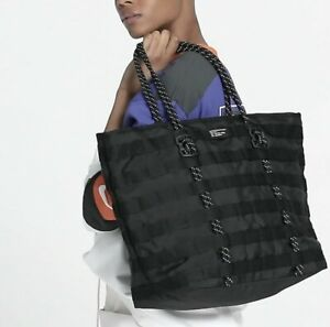 Nike Air Force 1 Unisex Black Tote Bag DA1924-010 Was $ 85 NEW