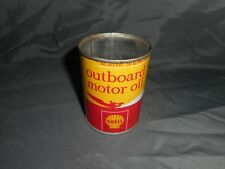 Vintage SHELL 2 CYCLE OUTBOARD MOTOR OIL 8 OZ Advertising Can