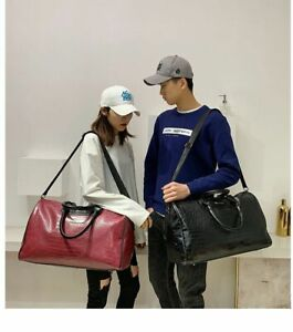 Men Women Pu Leather Alligator Bag Fitness Training Travel Luggage Sport Bags